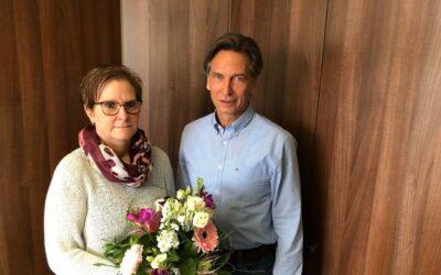 25-jähriges Betriebsjubiläum von Frau Müller